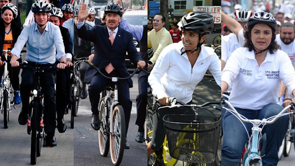 Políticos bicicleteros
