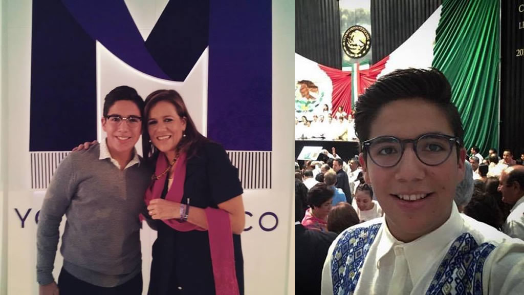 El hijo de Margarita Zavala se politiza