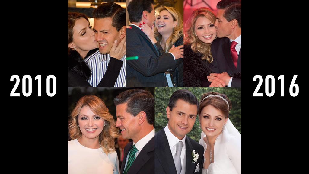 El sexto aniversario de la boda entre Enrique Peña Nieto y Angélica Rivera
