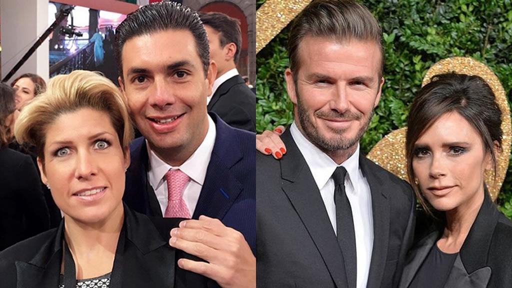 Qué tienen en común la esposa de Jesús Sesma y la de David Beckham
