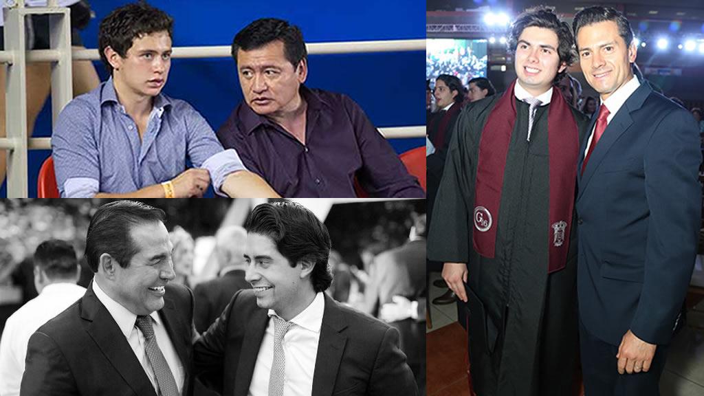 La relación entre los hijos de Peña Nieto, Osorio Chong y Miranda Nava