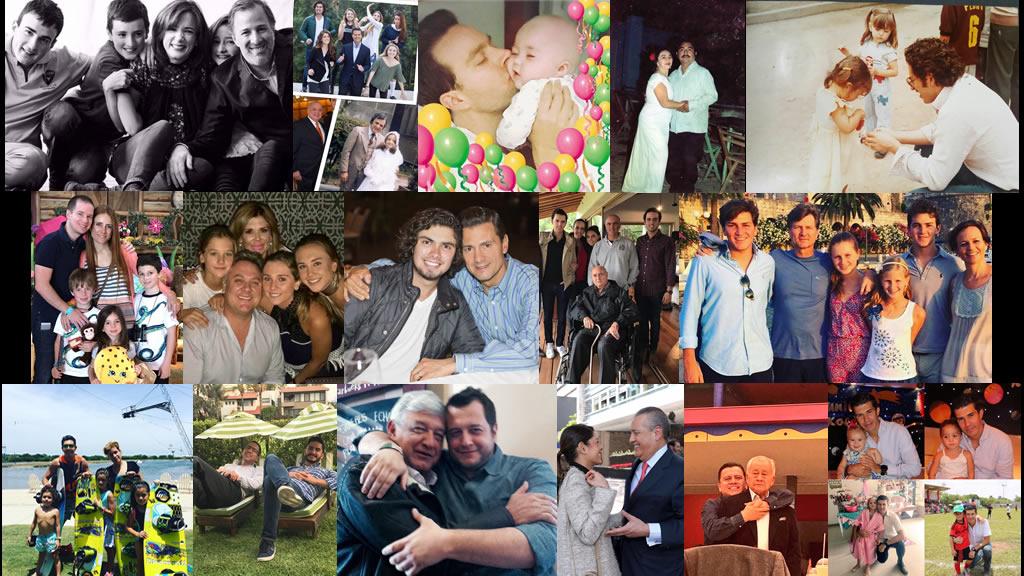 Los políticos papás y los papás de los políticos 2017