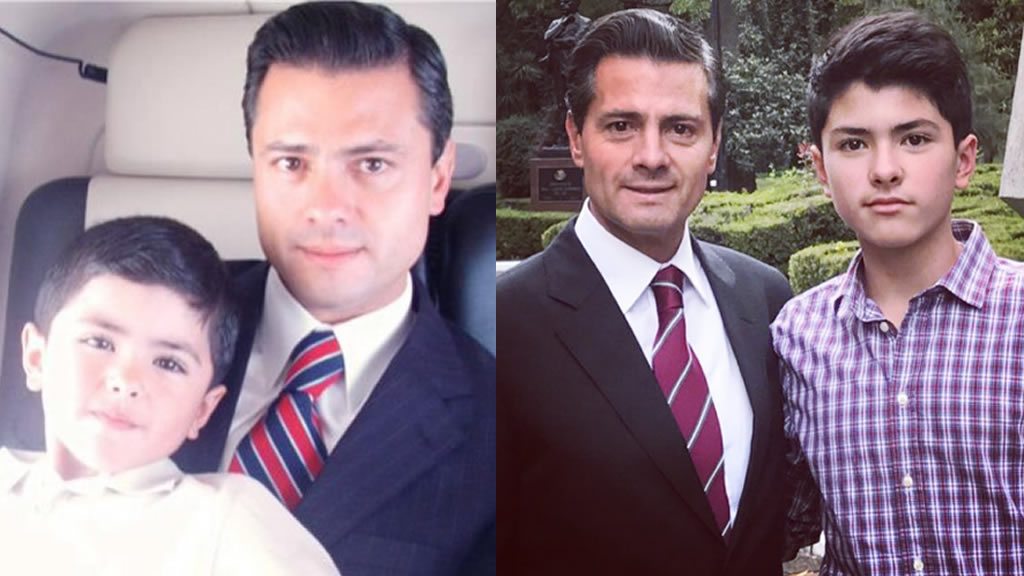 Peña Nieto festeja a su hijo Diego