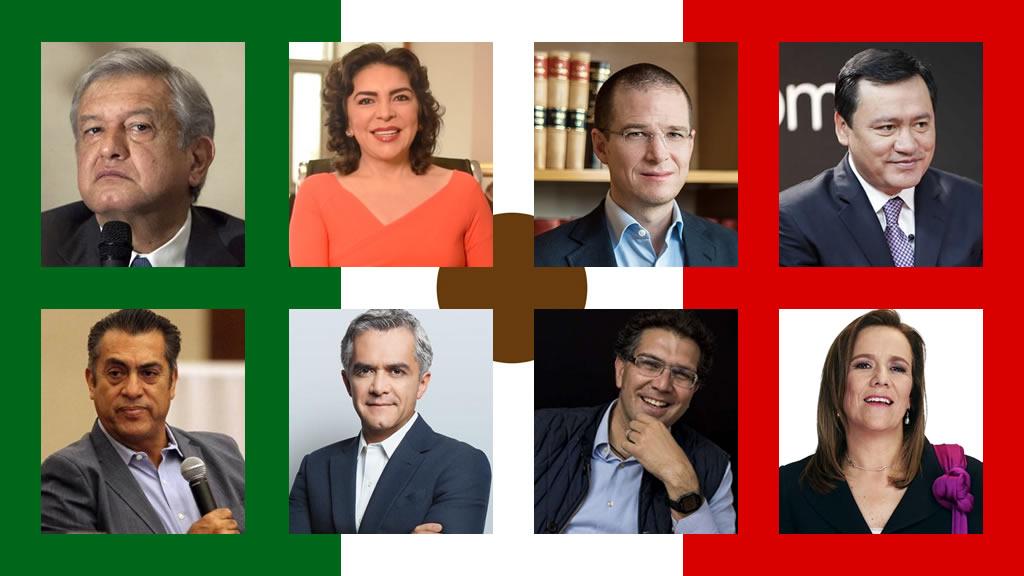 Ellas y ellos son los aspirantes a la Presidencia de México en 2018