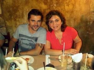 Ortega con los famosos 4
