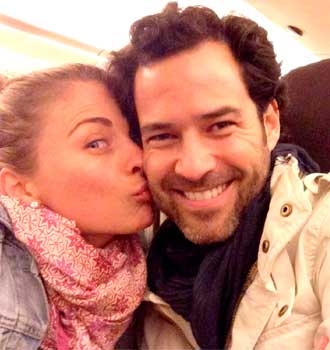 La pareja se conoció gracias a un encuentro 'a ciegas' que les organizó la actiz Maki Soler. FOTO: Twitter.com/ludwikapaleta