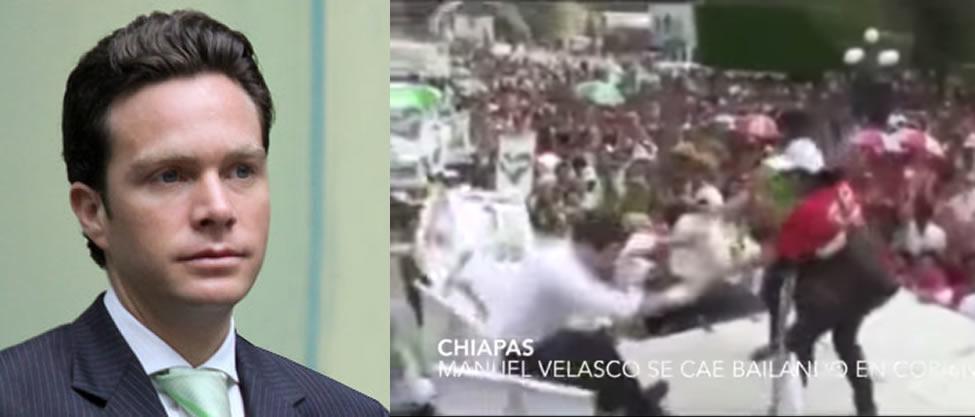 Manuel Velasco se cae durante un evento [VIDEO]