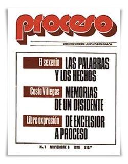 El primer número de Proceso apareció el 6 de noviembre de 1976 / FOTO: proceso.com.mx
