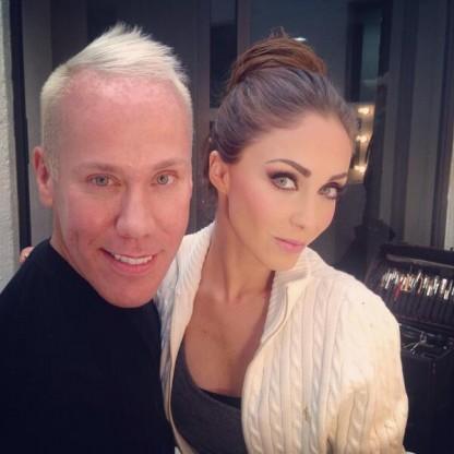 Alfonso ha maquillado a Anahí en varias ocasiones / FOTO: Twitter.com