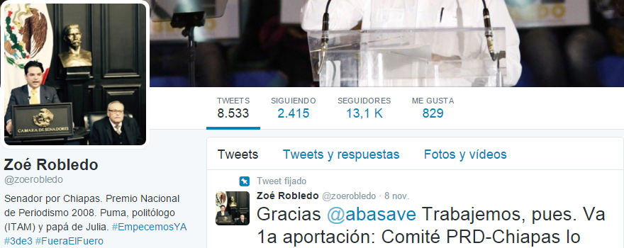 25 políticos menos seguidos en Twitter