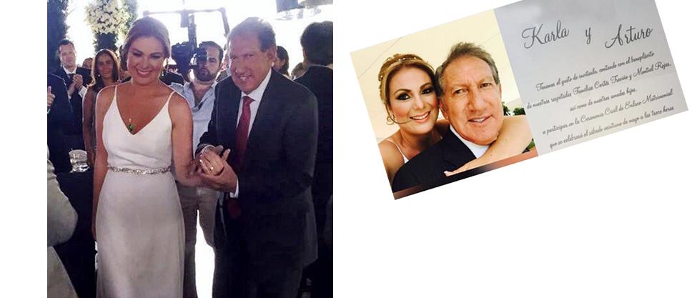 La boda de Arturo Montiel Rojas