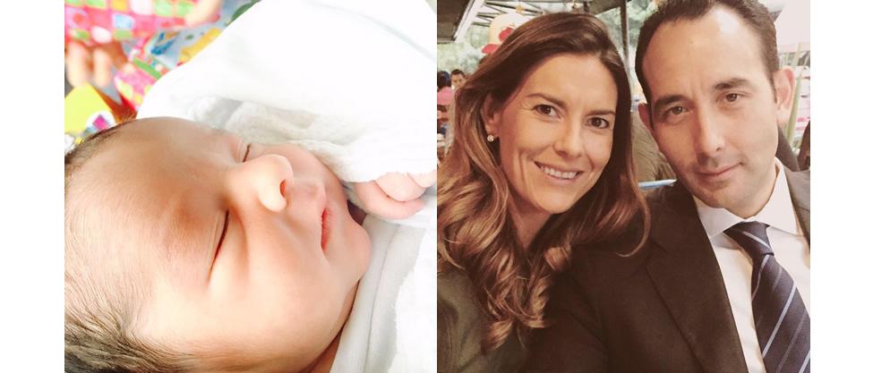 Ya nació el hijo de Roberto Gil Zuarth y Elia Mary Knight