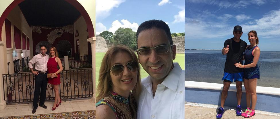 Fotos de Javier Lozano y Desirée de viaje por Campeche