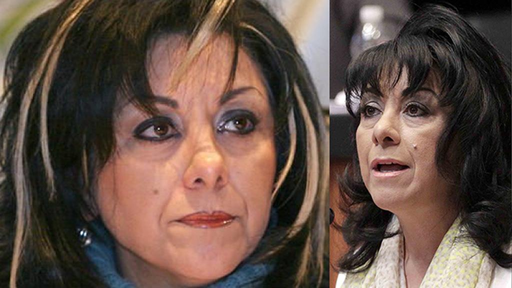 Los peinados de la senadora Lucero Saldaña