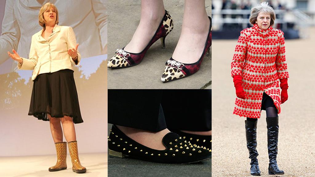 Los excéntricos zapatos de la Primera Ministra del Reino Unido