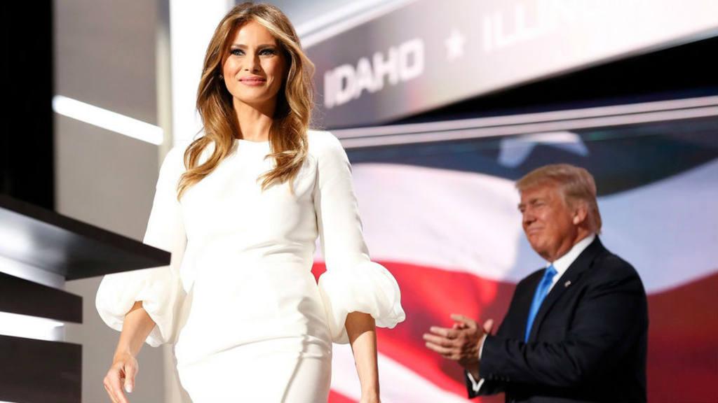 El vestido de novia de Melania Trump