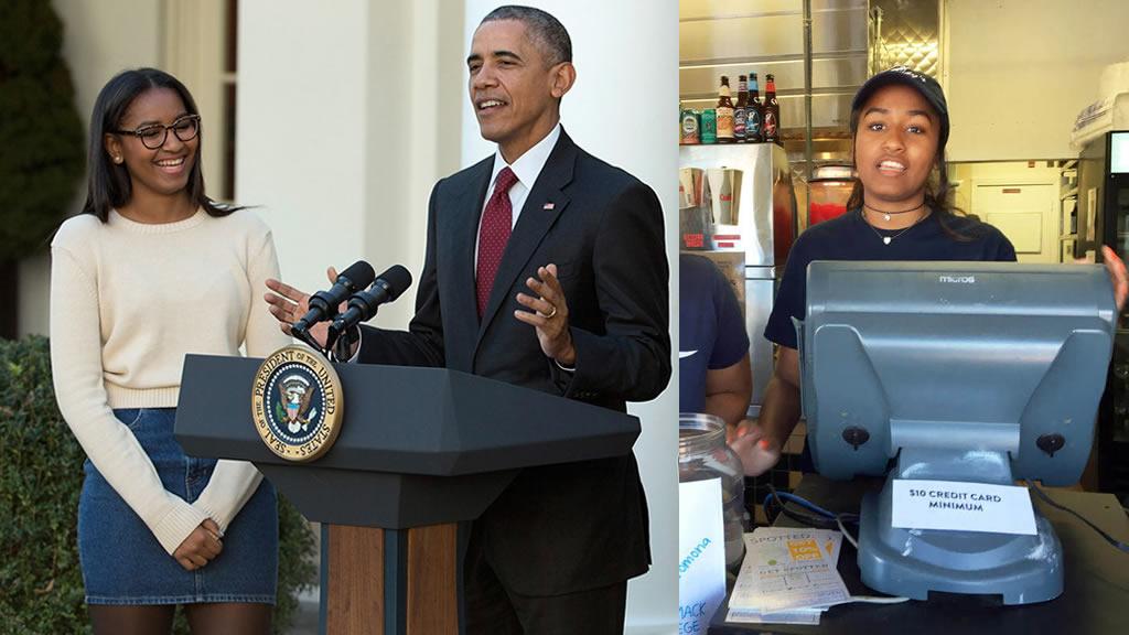 La hija del presidente Obama es mesera en un restaurante