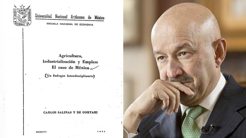 Fotos de las tesis de 5 Presidentes de México [PORTADAS]