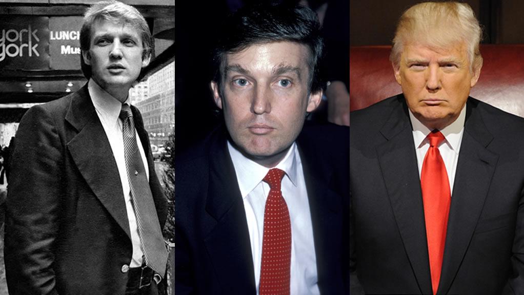 La transformación de Donald Trump en 36 imágenes
