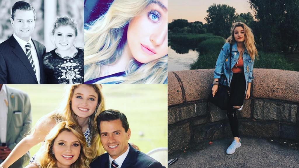 El presidente Peña Nieto felicita a su hijastra Fernanda Castro