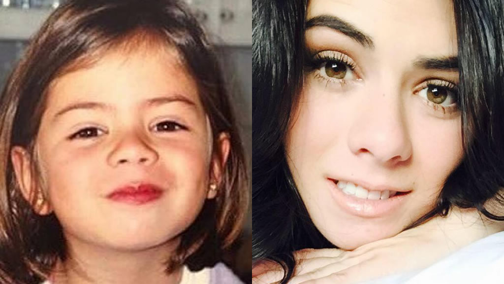 Paulina Peña de niña a mujer