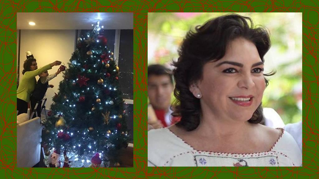 El árbol de navidad de Ivonne Ortega