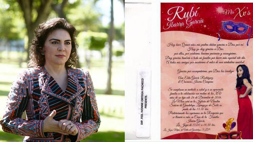 La diputada que fue invitada a los XV años de Rubí