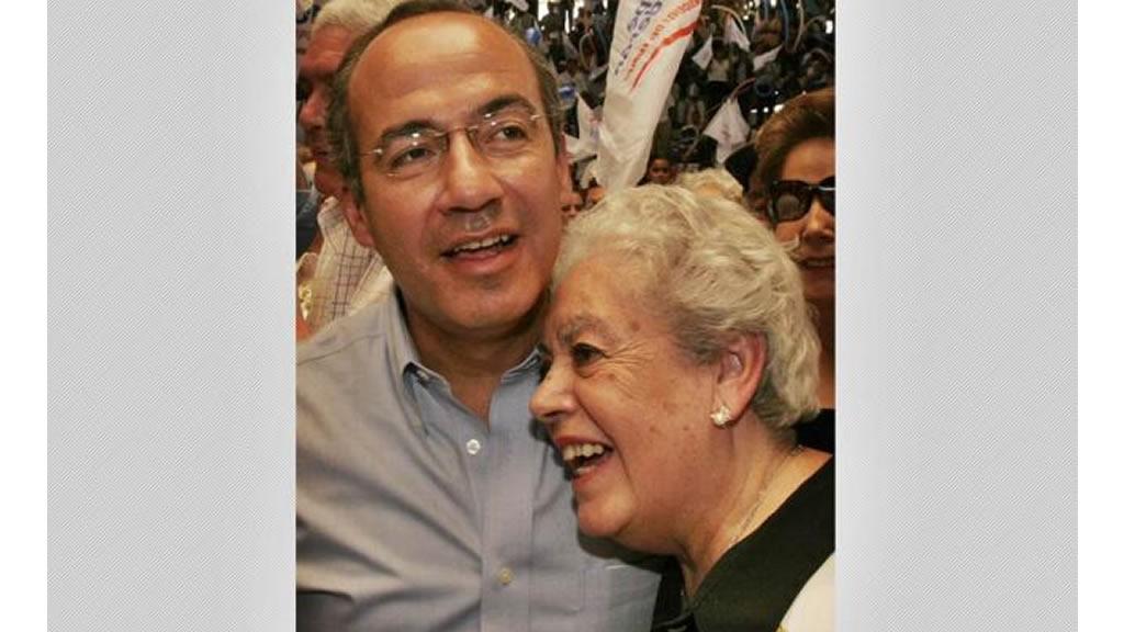 Muere la mamá de Felipe Calderón