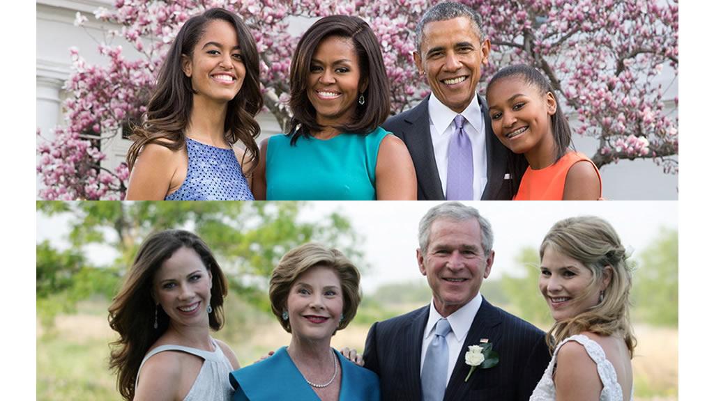 La carta que las hijas de Bush le dedicaron a las hijas de Obama