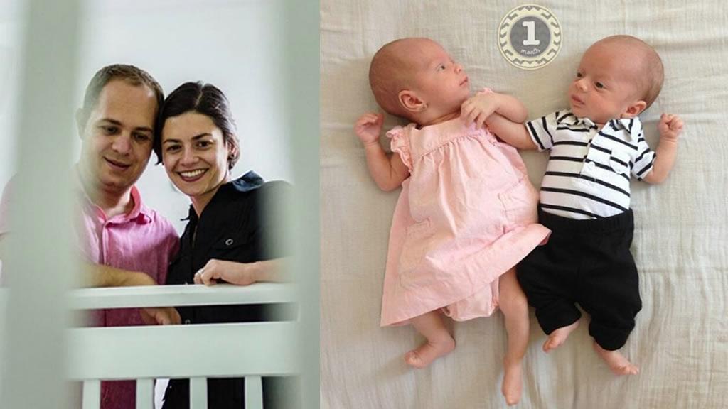 José Manuel Azpiroz y Bárbara Xacur presumen a sus bebés