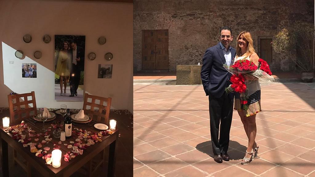 El primer aniversario de Javier Lozano y Desirée Navarro