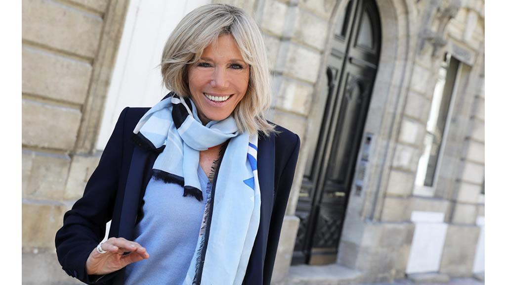 El estilo de la esposa de Emmanuel Macron, presidente de Francia