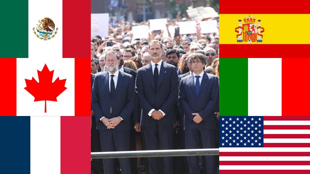 Los presidentes que se pronunciaron por los atentados en Barcelona