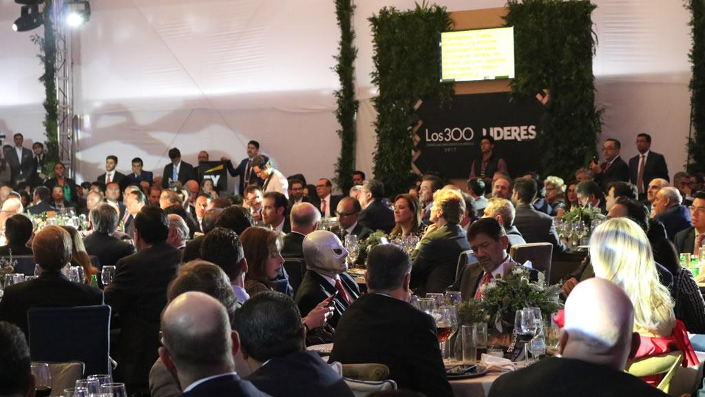 Políticos que asistieron a la comida de los 300 Líderes Mexicanos