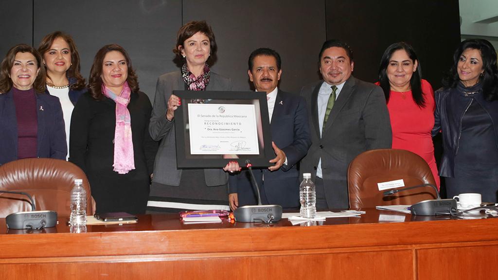 Ana Güezmes recibe reconocimiento del Senado de la República