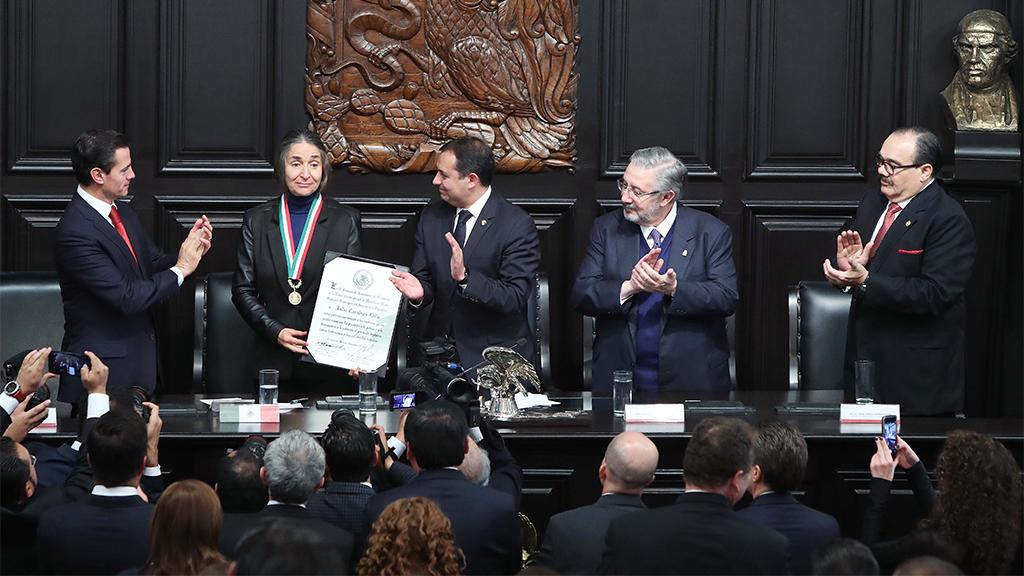 Julia Carabias ganó la Medalla Belisario Domínguez 2017