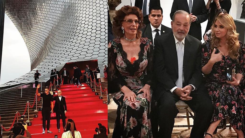 Quiénes asistieron al desfile de Dolce Gabbana en México