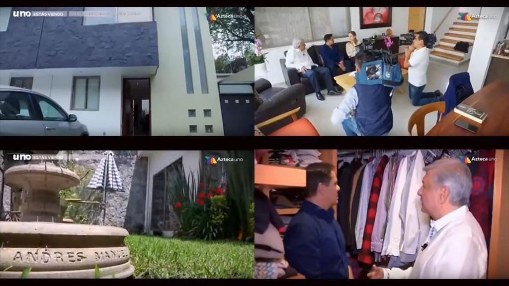 La casa donde vive Andrés Manuel López Obrador y su familia