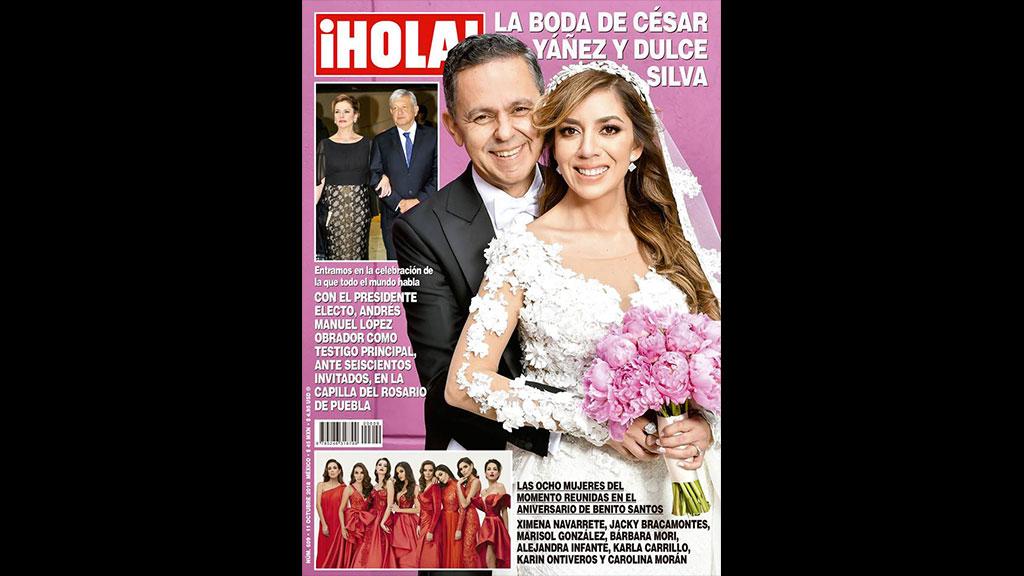 La boda de César Yáñez y Dulce María es portada de HOLA