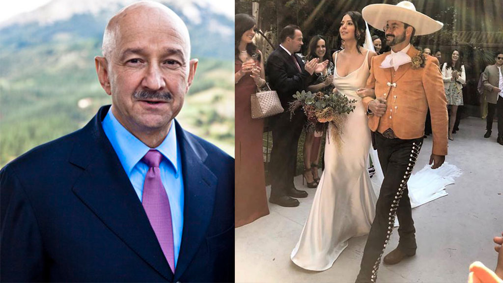 Las fotos que Salinas no quiere que veas de la boda de su hijo