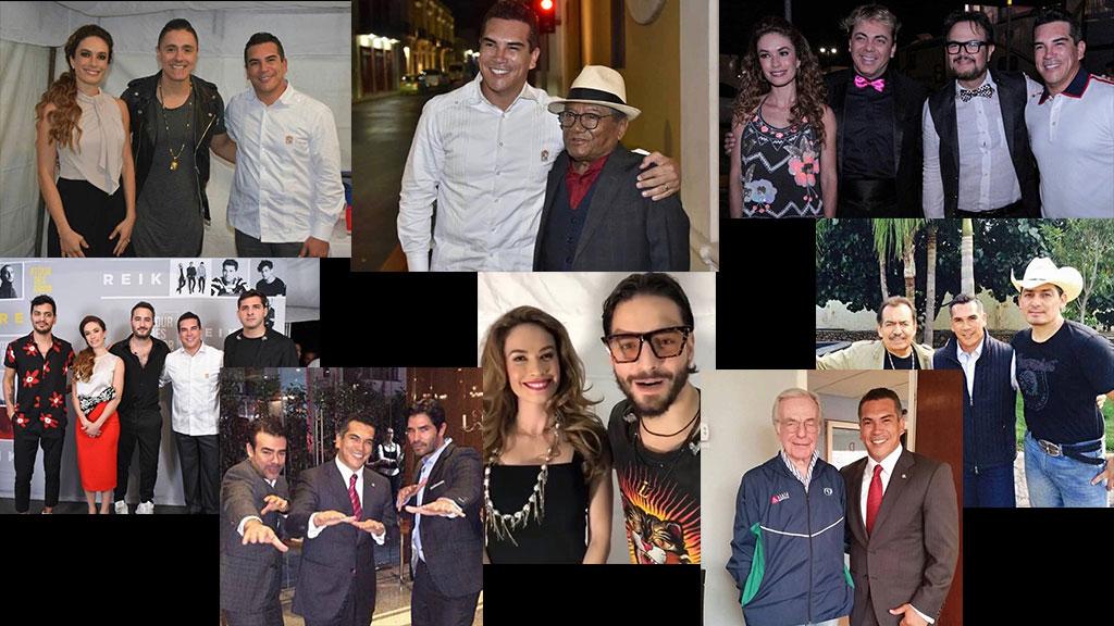 Alejandro Moreno Cárdenas y sus fotos con los famosos