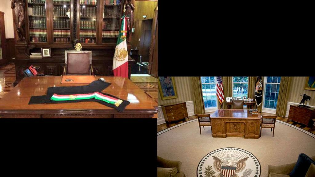 Los escritorios de 13 despachos de líderes mundiales