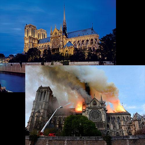 Políticos que compartieron su foto en Notre Dame