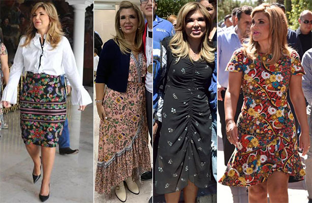 Outfits floreados de Claudia Pavlovich