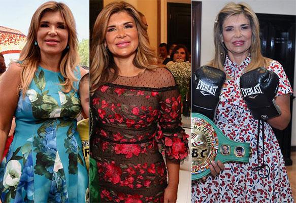 Outfits floreados de Claudia Pavlovich