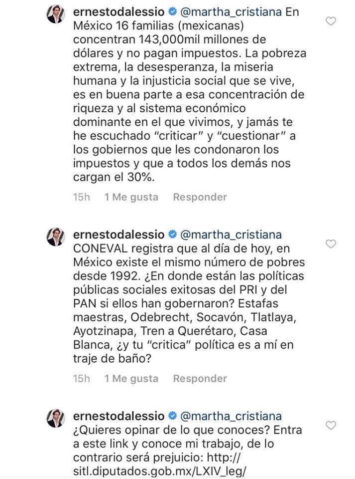 Martha Cristiana y Ernesto D´Alessio