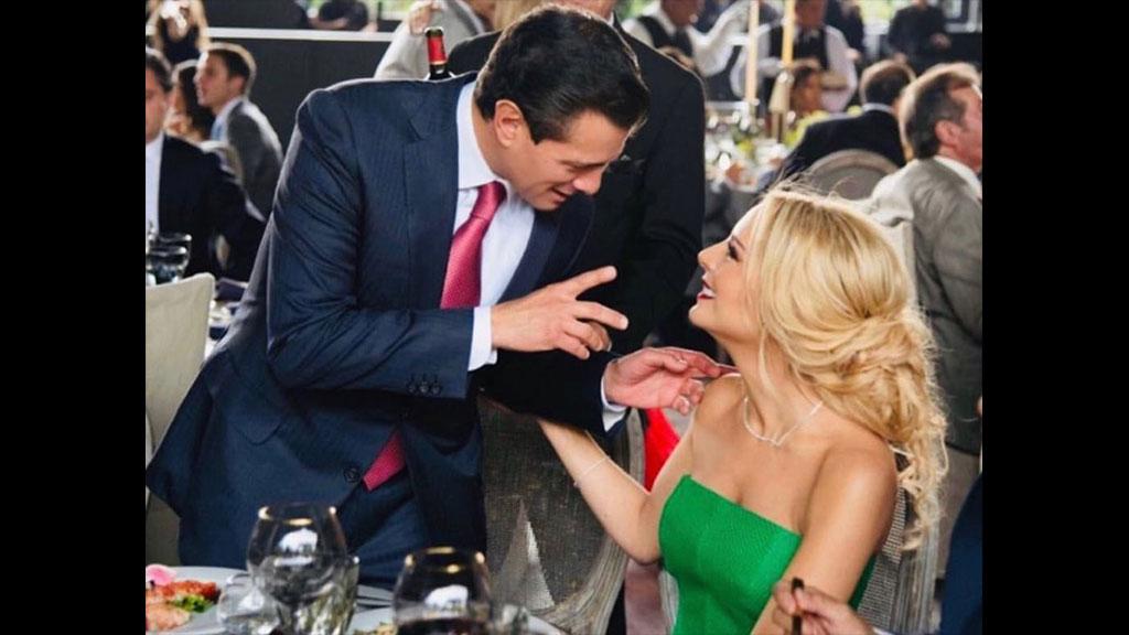 La primera muestra de amor pública que Tania Ruiz tiene con Enrique Peña Nieto