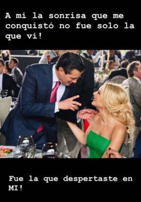 Tania Ruiz tiene con Enrique Peña