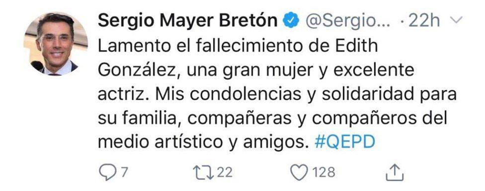 muerte de Edith González
