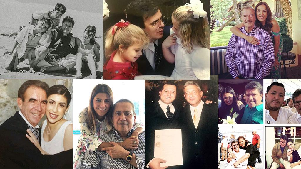 Así celebraron los políticos mexicanos el Día del Padre